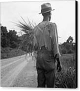 African American Man In Living In Rural Canvas Print by Everett