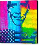 African-american Obama Canvas Print