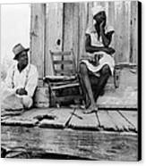 African American Sharecroppers, Titled Canvas Print by Everett