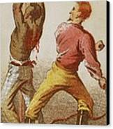 African American Slave Being Whipped Canvas Print