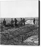 African-american Soldiers Of The 321st Canvas Print