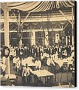 African American Waiters At A Banquet Canvas Print by Everett