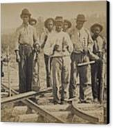 African American Work Team Canvas Print by Everett