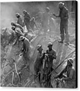 African American Workers Construction Canvas Print