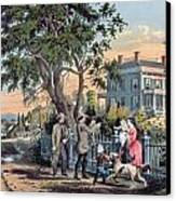 After The Hunt Canvas Print by Currier and Ives