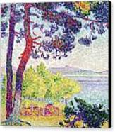 Afternoon At Pardigon Canvas Print by Henri-Edmond Cross