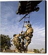 Air Force Pararescuemen Are Extracted Canvas Print by Stocktrek Images