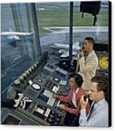 Air Traffic Controllers Direct Traffic Canvas Print