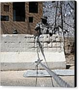 Airman Stands Post To The Entry Control Canvas Print