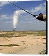 Airmen Conduct A Controlled Detonation Canvas Print