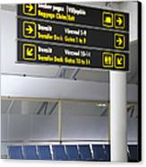 Airport Directional Signs Canvas Print