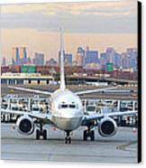 Airport Overlook The Big City Canvas Print by Mike McGlothlen