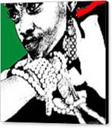 Aisha Jamaica Canvas Print by Naxart Studio