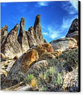 Alabama Hills Granite Fingers Canvas Print by Bob Christopher