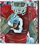Alabama Running Back Canvas Print by Michael Lee