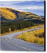 Alaska Highway Near Beaver Creek Canvas Print