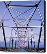 Alaska Native Veterans Honor Bridge Canvas Print by Yves Marcoux