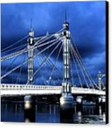 Albert Bridge London Canvas Print by Jasna Buncic