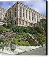 Alcatraz Cell House West Facade Canvas Print by Daniel Hagerman
