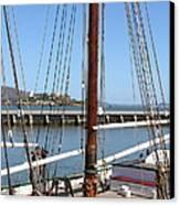 Alcatraz Island Through The Hyde Street Pier In San Francisco California . 7d14147 Canvas Print