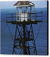 Alcatraz Watch Tower Canvas Print by Paul W Faust -  Impressions of Light