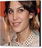 Alexa Chung At Arrivals For Inglourious Canvas Print