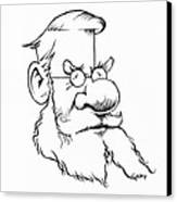Alfred Wallace, Caricature Canvas Print