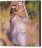 Algerian Woman And Child Canvas Print by Pierre Auguste Renoir