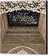 Alhambra Stained Glass Detail Canvas Print by Jane Rix