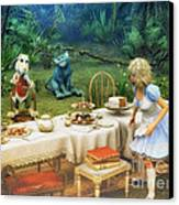 Alice In Wonderland Canvas Print by Jutta Maria Pusl