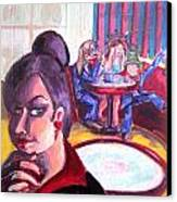 Alice Trippin' In Wonderland Canvas Print by Hannah Chusid