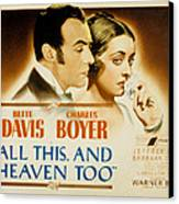 All This And Heaven Too, Charles Boyer Canvas Print