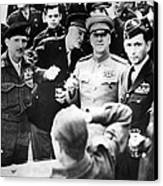 Allied Leaders Drink A Victory Toast Canvas Print by Everett