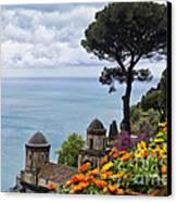 Amalfi Coast Spring Vista Canvas Print