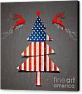 America X'mas Tree Canvas Print by Atiketta Sangasaeng