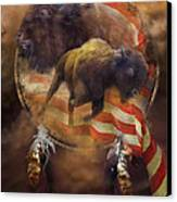 American Buffalo Canvas Print by Carol Cavalaris