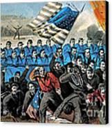 American Civil War, Battle Of Malvern Canvas Print by Photo Researchers