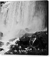American Falls With Cave Of The Winds Walkway Niagara Falls New York State Usa Canvas Print