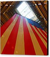 American Flag In Marshall Field's Canvas Print