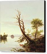 American Lake Scene Canvas Print