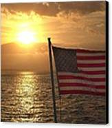 American Sunset Canvas Print by Lillie Wilde