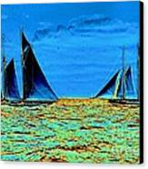 America's Cup Contenders Idler And Hildegarde 1901 Canvas Print by Padre Art
