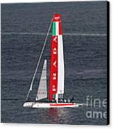 America's Cup In San Francisco - Italy Luna Rossa Paranha Sailboat - 7d19041 Canvas Print by Wingsdomain Art and Photography