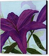Amethyst Lily Canvas Print by Vikki Wicks