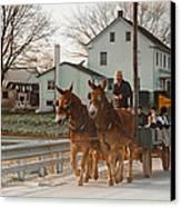 Amish Wagon Canvas Print by Heidi Reyher