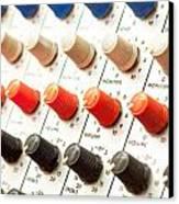 Amplifier Dials Canvas Print by Tom Gowanlock