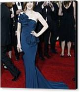 Amy Adams Wearing A Marchesa Gown Canvas Print