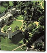 An Aerial View Of Warwick Castle Canvas Print by Richard Nowitz