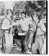An African American Student Is Escorted Canvas Print by Everett