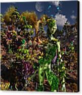 An Alien Being Blending Canvas Print by Mark Stevenson